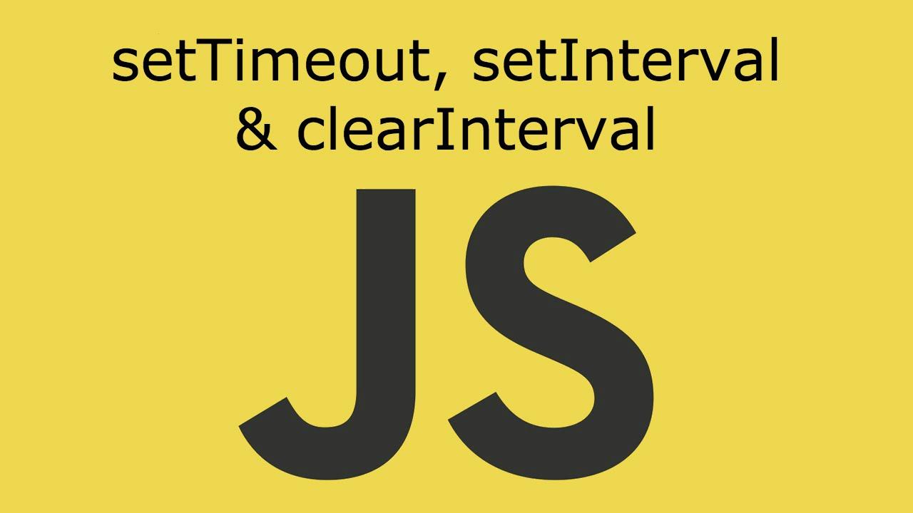 JavaScript de setInterval ve setTimeout Kullanımı